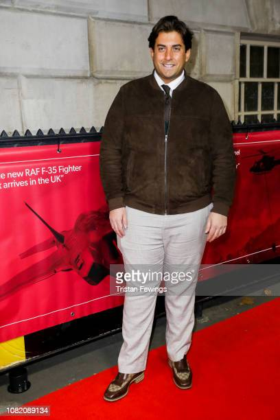 James Argent attends The Sun Military Awards at Banqueting House on December 13 2018 in London England