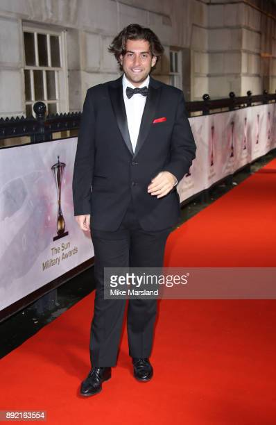 James Argent attends The Sun Military Awards at Banqueting House on December 13 2017 in London England