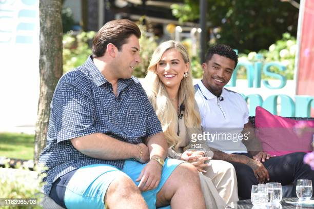 James Argent Ellie Brown and Michael Griffiths filming for the ITV This Morning show on July 24 2019 in London England