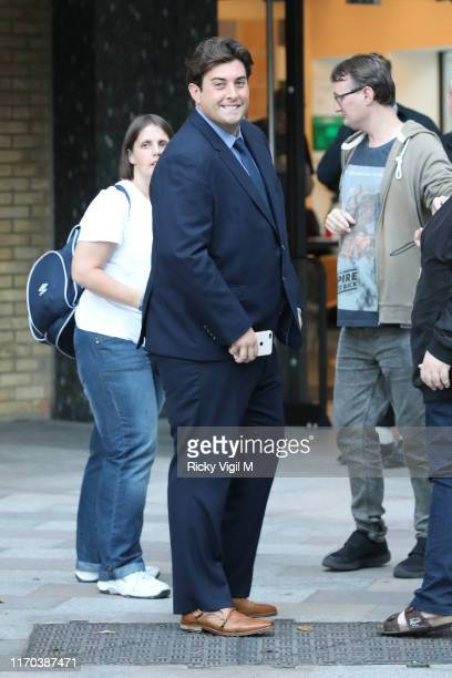 James Argent seen at Strictly Come Dancing red carpet launch show recording at Television Centre on August 26 2019 in London England