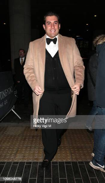 James Argent seen attending National Television Awards at The O2 on January 22 2019 in London England