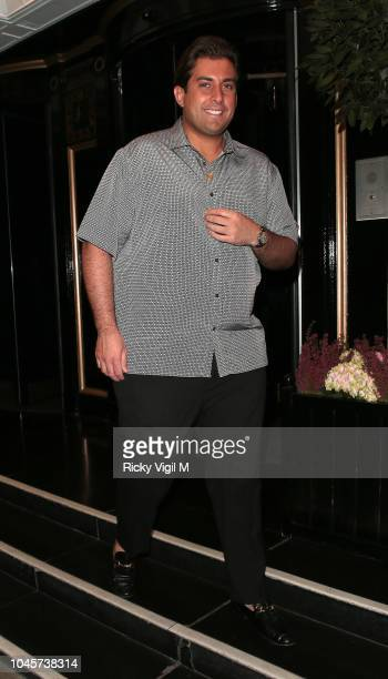 James Argent seen on a night out at China Tang restaurant on October 4 2018 in London England