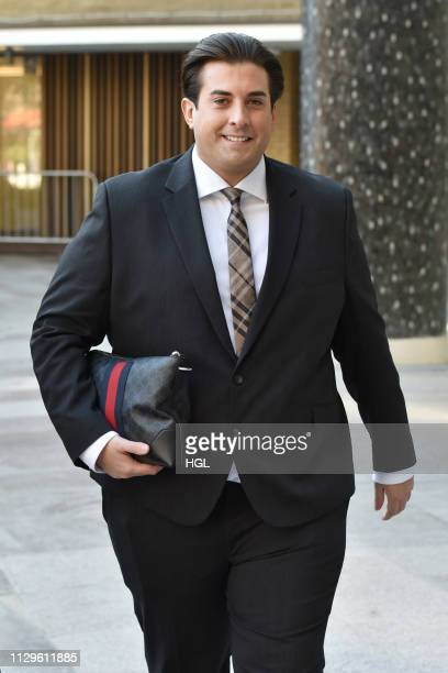 James Argent seen outside the ITV Studios on February 14 2019 in London England