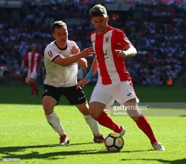 James Armson of Brackley Town during The Buildbase FA Trophy Final match between Brackley Town and Bromley at Wembley London England on 20 May 2018