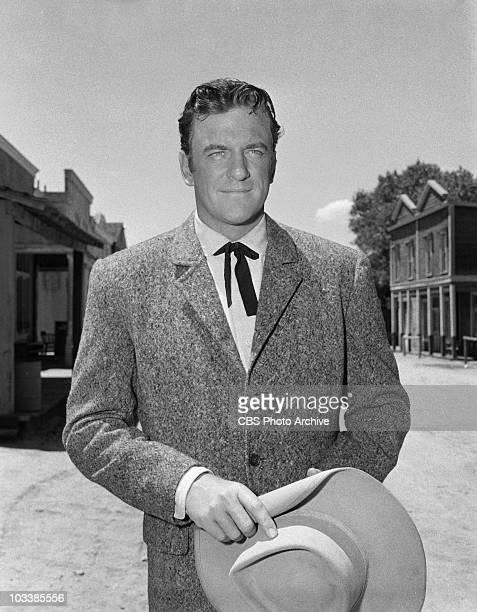 GUNSMOKE James Arness as Marshal Matt Dillon in 'Mavis McCloud' Image dated June 14 1957