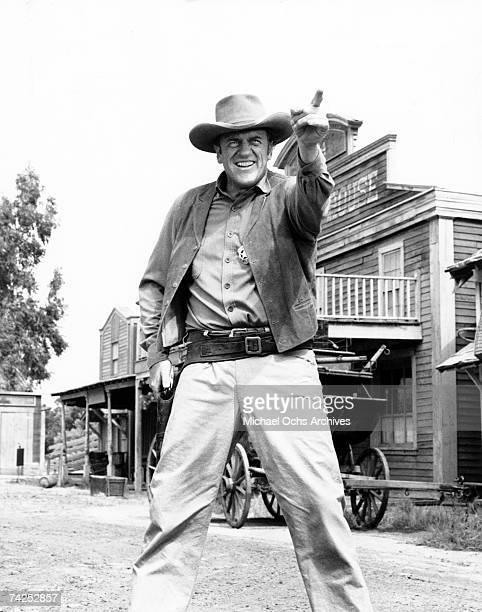 James Arness as Marshall Matt Dillon in a scene from an episode of 'Gunsmoke' circa 1970 in Los Angeles California