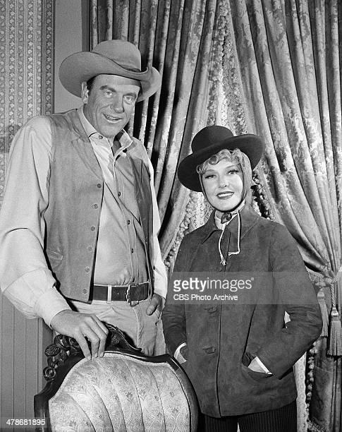 James Arness as Matt Dillon and Jean Arthur as Julie Blane in the GUNSMOKE episode 'Thursday's Child' Image dated January 5 1965