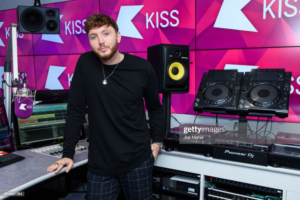 James Arthur at Kiss FM Studio's on June 14, 2018 in London, England.