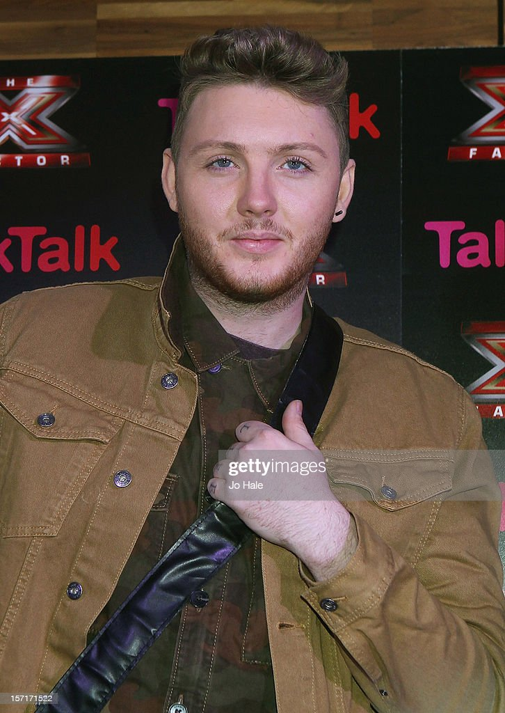 James Arthur attends a photocall at the Talk Talk X Factor semi finalists gig on November 29, 2012 in London, England.