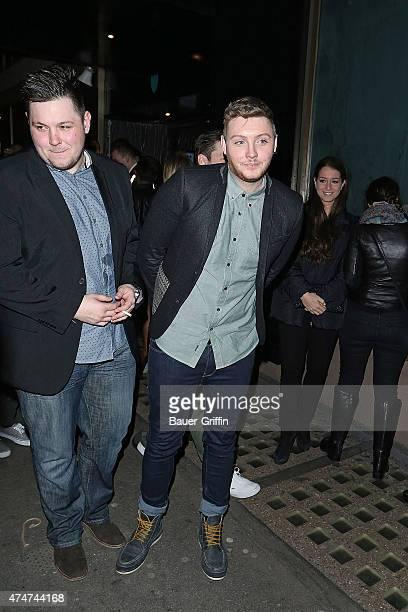 James Arthur is seen leaving a nightclub on November 26 2012 in London United Kingdom
