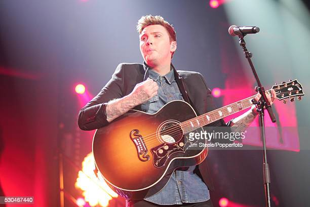 James Arthur performing on stage during the X Factor Tour at Wembley Arena in London on the 22nd February 2013