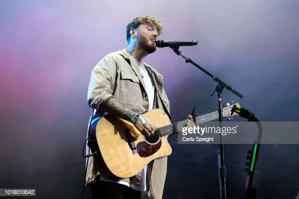 James Arthur performs at Scarborough Open Air Theatre on August 12 2018 in Scarborough England