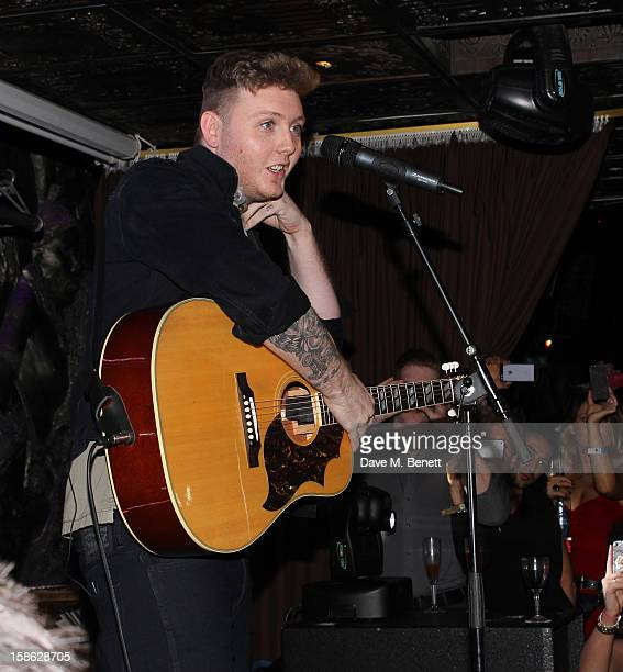 James Arthur performs at Shaka Zulu on December 21 2012 in London England