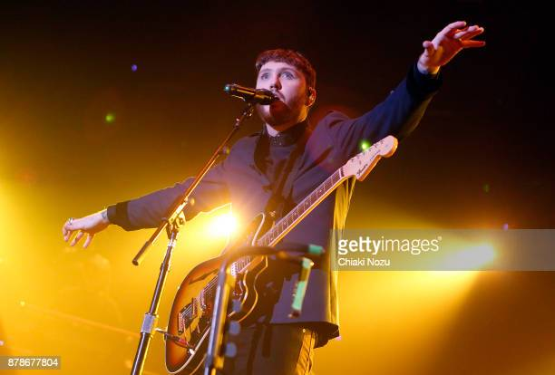 James Arthur performs at SSE Arena Wembley on November 24 2017 in London England