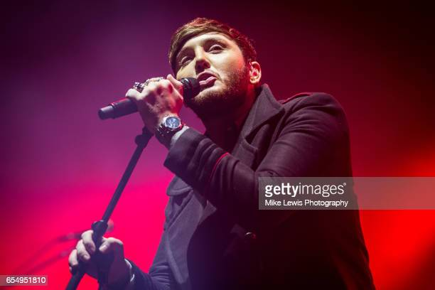 James Arthur performs at St David's Hall on March 18 2017 in Cardiff United Kingdom