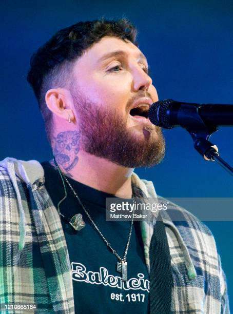 James Arthur performs at the O2 Arena on March 05 2020 in London England