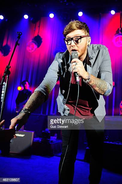 James Arthur performs on stage at Eventim Apollo, Hammersmith on January 15, 2014 in London, United Kingdom.