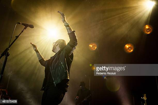 James Arthur performs on stage at Usher Hall on January 9 2014 in Edinburgh United Kingdom
