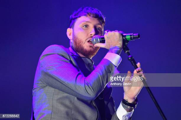 James Arthur performs on stage during Key 103 Live held at the Manchester Arena on November 9 2017 in Manchester England