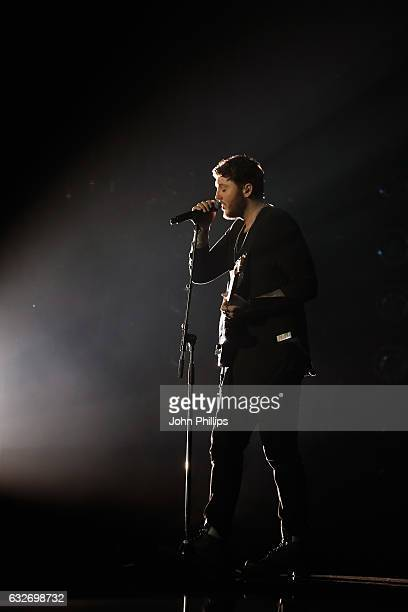 James Arthur performs on stage during the National Television Awards at The O2 Arena on January 25 2017 in London England