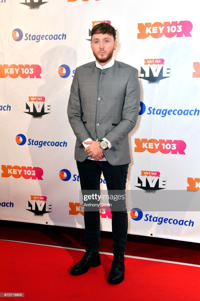 James Arthur poses before perfoming at Key 103 Live held at the Manchester Arena on November 9, 2017 in Manchester, England.