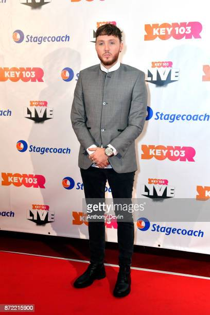 James Arthur poses before perfoming at Key 103 Live held at the Manchester Arena on November 9 2017 in Manchester England