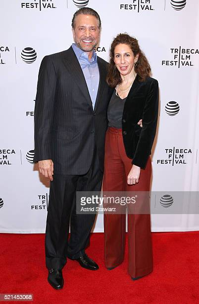 James Arthur Ray and director Jenny Carchman attend Enlighten Us The Rise and Fall of James Arthur Ray Premiere 2016 Tribeca Film Festival at Chelsea...
