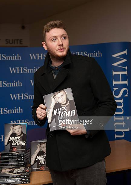 James Arthur, winner of X Factor 2012, meets fans and signs copies of his book 'James Arthur: My Story' at Fosse Park Retail Park on December 19,...
