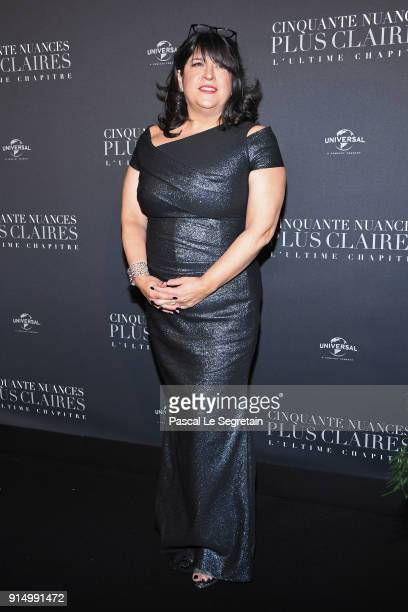 L James attends 'Fifty Shades Freed 50 Nuances Plus Claires' Premiere at Salle Pleyel on February 6 2018 in Paris France