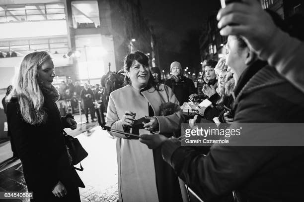 EL James attends the UK premiere of 'Fifty Shades Darker' at Odeon Leicester Square on February 9 2017 in London England