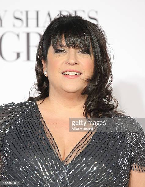 E L James attends the UK Premiere of 'Fifty Shades Of Grey' at Odeon Leicester Square on February 12 2015 in London England