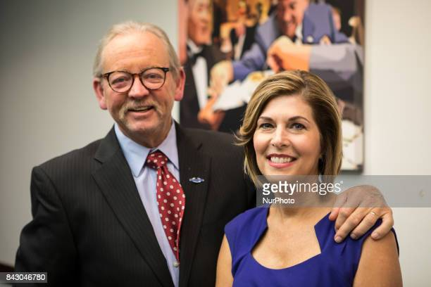 James Attkisson stands with his wife former CBS News Correspondent Sharyl Attkisson author of The Smear How Shady Political Operatives and Fake News...