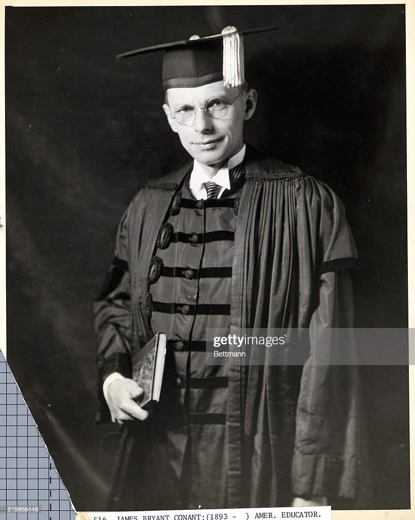 James B. Conant American editor in cap and gown. Undated photograph ...