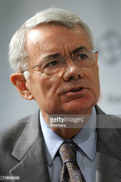 James Bacchus chairman of global practice at Greenberg Traurig LLP speaks at the Bloomberg via Getty Images Brazil Conference in New York US on...