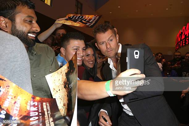 James Badge Dale attends the Miami Fan Screening of the Pramount Pictures film '13 Hours' at the AMC Aventura on January 7 2016 in Miami Florida