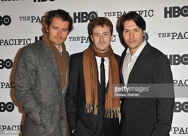 James Badge Dale Joe Mazzello and Jon Seda launche the DVD of The Pacific at HMS Belfast on October 20 2010 in London England