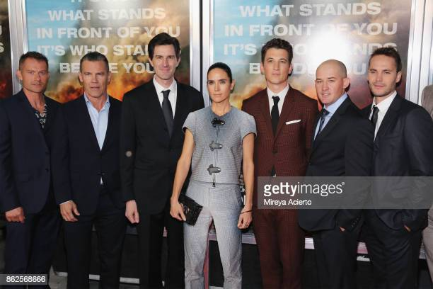 James Badge Dale Josh Brolin Joseph Kosinski Jennifer Connelly Miles Teller Pat McCarty and Taylor Kitsch attend 'Only The Brave' New York screening...