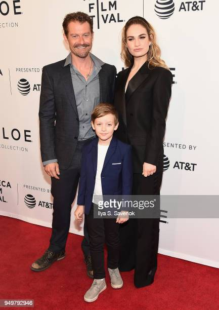James Badge Dale Lily James and Charlie Ray Reid attend a screening of 'Little Woods' during the 2018 Tribeca Film Festival at SVA Theatre on April...