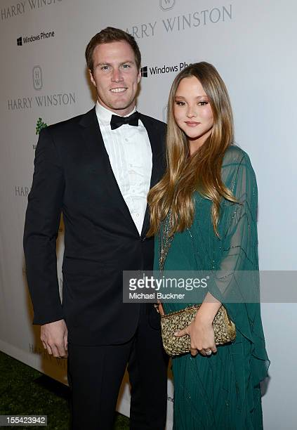 James Bailey and actress Devon Aoki attend the First Annual Baby2Baby Gala event presented by Harry Winston honoring Jessica Alba at Book Bindery on...