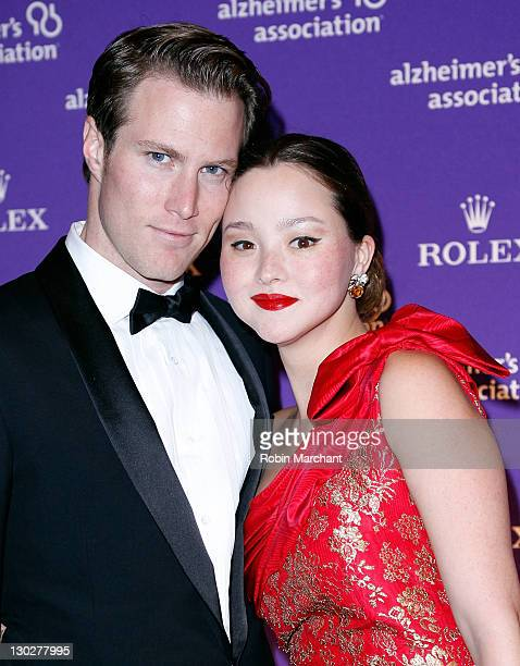 James Bailey and Devon Aoki attend the 2011 Rita Hayworth Gala at The Waldorf=Astoria on October 25 2011 in New York City