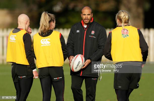 James Bailey during England Women Sevens training at Bisham Abbey on November 13 2017 in Marlow England