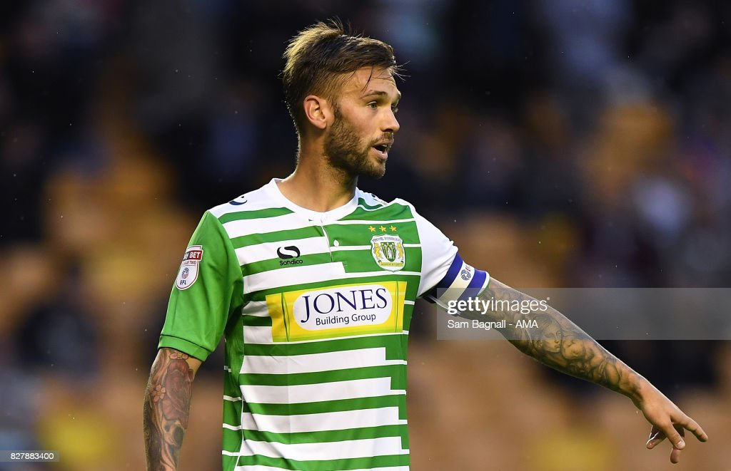 James Bailey of Yeovil Town during the Carabao Cup First Round match between Wolverhampton Wanderers and Yeovil Town at Molineux on August 8, 2017 in Wolverhampton, England.