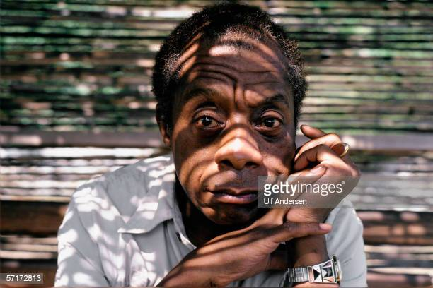 James Baldwin poses while at home in Saint Paul de Vence South of France during September of 1985