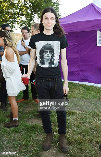 James Bay attends day one of CIROC MAHIKI backstage at V Festival at Hylands Park on August 22 2015 in Chelmsford England