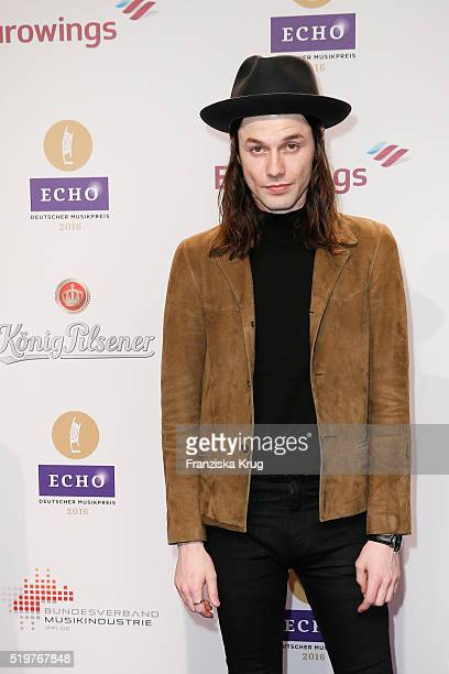 James Bay attends the Echo Award 2016 on April 07 2016 in Berlin Germany