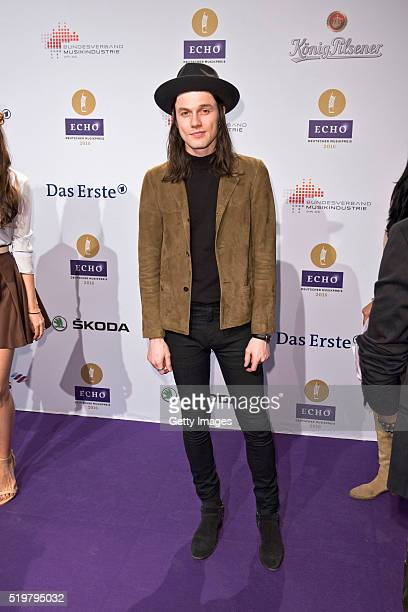 James Bay attends the Echo Award 2016 on April 7 2016 in Berlin Germany