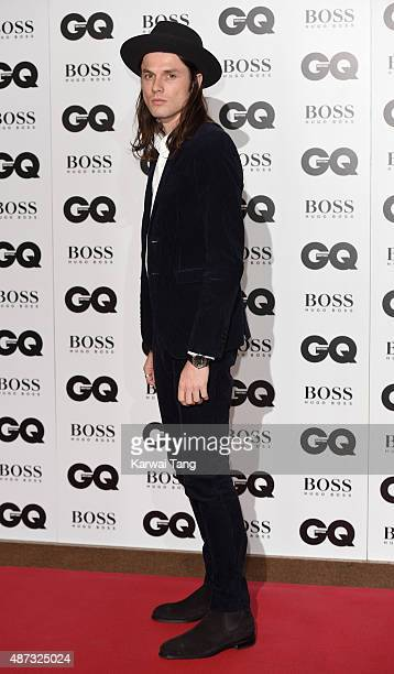 James Bay attends the GQ Men Of The Year Awards at The Royal Opera House on September 8 2015 in London England