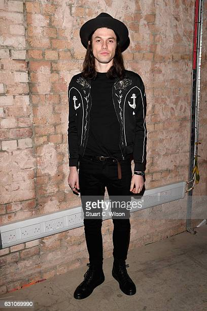 James Bay attends the TOPMAN DESIGN show during London Fashion Week Men's January 2017 collections at Topman Show Space on January 6 2017 in London...