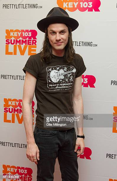 James Bay backstage at Manchester Arena on July 19 2015 in Manchester England
