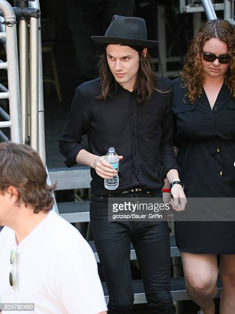 James Bay is seen at 'Jimmy Kimmel Live' on April 26 2016 in Los Angeles California